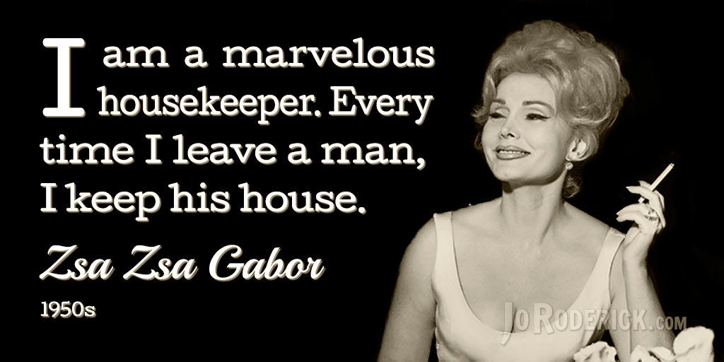 Famous Quote 60 Zsa Zsa Gabor Quotes Fascinating Zsa Zsa Gabor Quotes